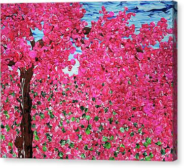 Hot Pink Custom Canvas Print - Woke Up In A Pink World by Ric Bascobert