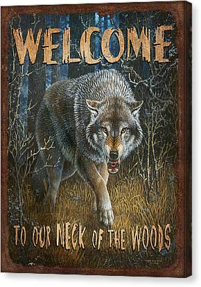 Kevin Canvas Print - Wold Neck Of The Woods by JQ Licensing