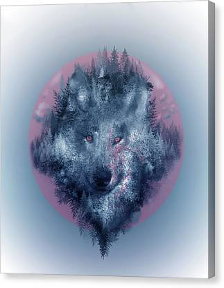 Abstract Nature Canvas Print - Wolf 2 by Bekim Art