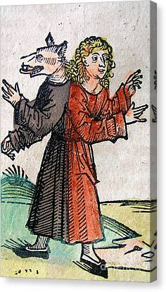 Wolf Boy, Nuremberg Chronicle, 1493 Canvas Print by Science Source