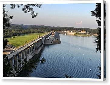 Wolf Creek Dam Canvas Print by Amber Flowers