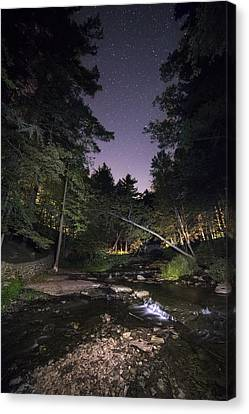 Canvas Print featuring the photograph Wolf Creek Starry Night by Mark Papke
