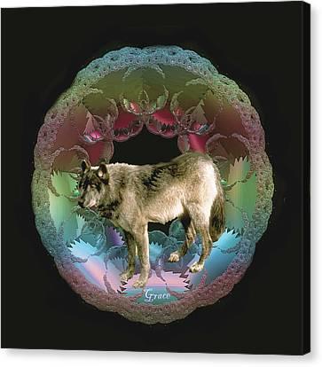 Wolf Canvas Print by Julie Grace