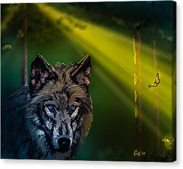 Wolf Of The Dark Wood Canvas Print