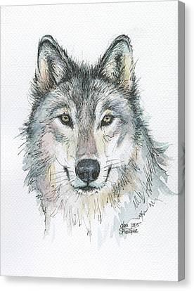 Wolf Canvas Print by Olga Shvartsur