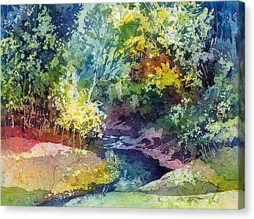 Wolf Pen Creek Canvas Print by Hailey E Herrera