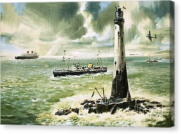 Wolf Rock Lighthouse At Land's End Canvas Print by Wilf Hardy