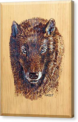 Wolf Canvas Print by Ron Haist