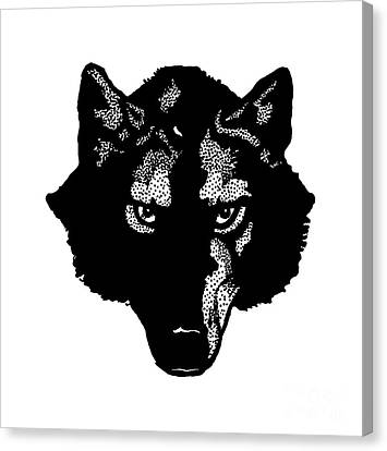 Wolf Tee Canvas Print by Edward Fielding