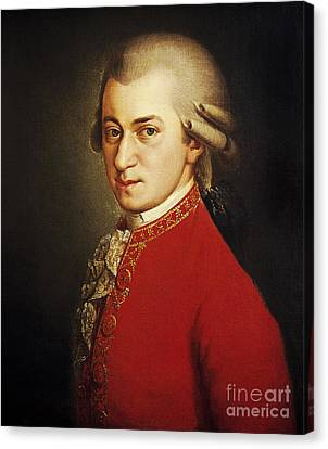 Wolfgang Amadeus Mozart, Austrian Canvas Print by Photo Researchers