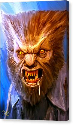Wolfman Mark Spears Monsters Canvas Print by Mark Spears