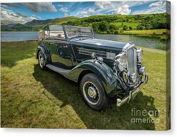 Canvas Print featuring the photograph Wolseley Classic Car by Adrian Evans