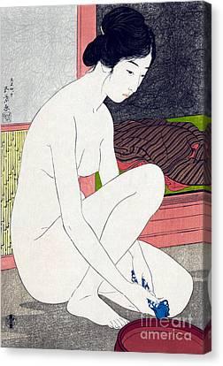 Woman After Bath  Canvas Print by Goyo Hashiguchi