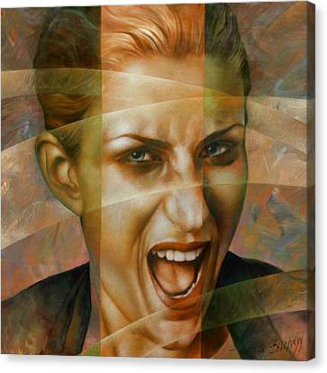 Woman Canvas Print by Arthur Braginsky
