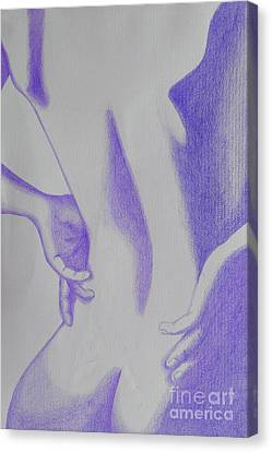 Woman Back Purple Canvas Print