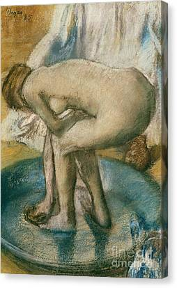Woman Bathing In A Shallow Tub, 1885  Canvas Print