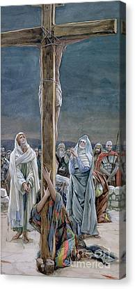 Crucifixion Canvas Print - Woman Behold Thy Son by Tissot