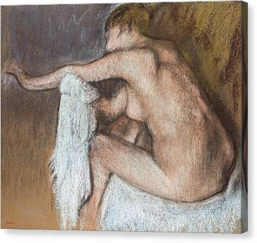 Woman Drying Her Arm Canvas Print by Edgar Degas
