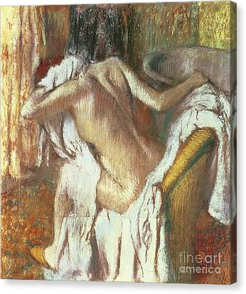 Woman Drying Herself Canvas Print