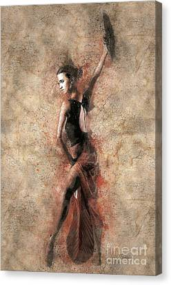 Woman Flamenco Dancer Canvas Print