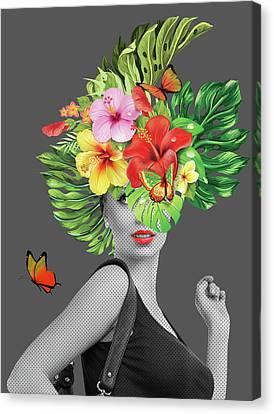 Woman Floral  Canvas Print