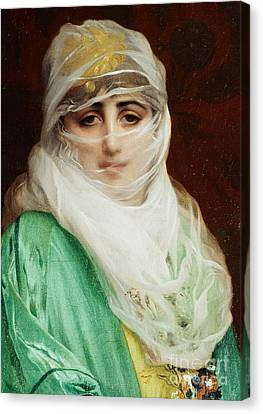 Woman From Constantinople Canvas Print by Jean Leon Gerome