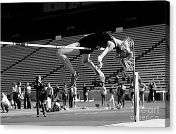 Woman High Jumper  Canvas Print