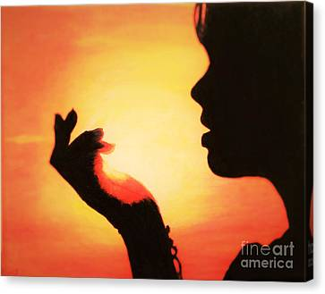 Woman Holding Light Canvas Print