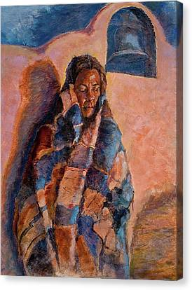 Woman In A Serape Canvas Print