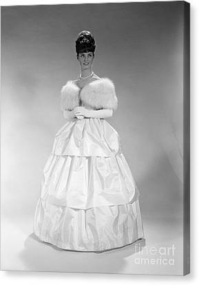 Woman In Ball Gown, C. 1960s Canvas Print by H. Armstrong Roberts/ClassicStock