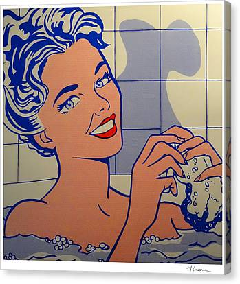Woman In Bath Canvas Print by Roy Lichtenstein