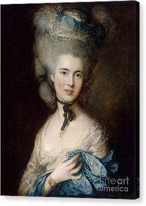 Woman In Blue The Duchess Of Beaufort Canvas Print