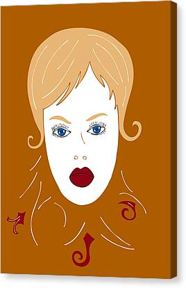 Woman In Fashion Canvas Print by Frank Tschakert