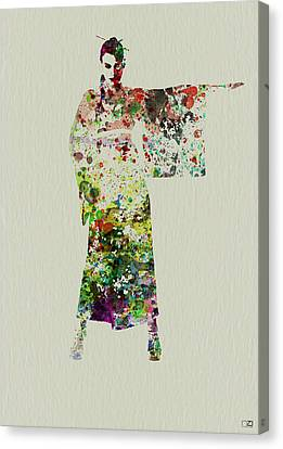 Geisha Girl Canvas Print - Woman In Kimono by Naxart Studio