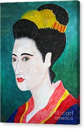 Woman In Kyoto By Taikan Canvas Print by Taikan Nishimoto