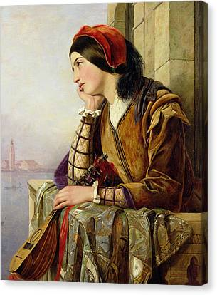Woman In Love Canvas Print by Henry Nelson O Neil