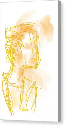 Woman In Orange Canvas Print by Robert Yaeger