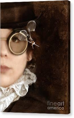 Woman In Steampunk Clothing  Canvas Print by Jill Battaglia
