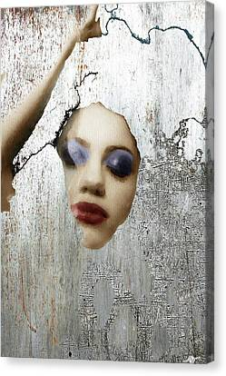 Woman In Steel Canvas Print