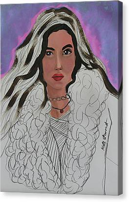 Woman Canvas Print by Kate Farrant