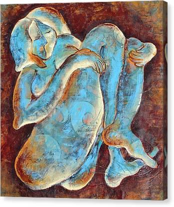 Woman Meditating Canvas Print by Sara Zimmerman