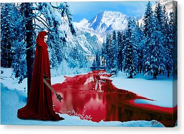 Woman Of Dark Desires Canvas Print by John Paul Blanchette