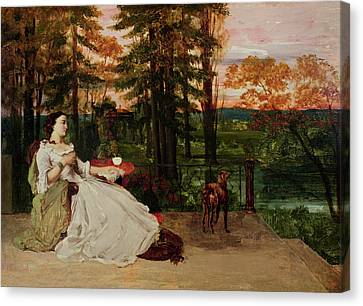 Woman Of Frankfurt Canvas Print by Gustave Courbet