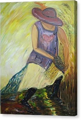 Woman Of Wheat Canvas Print