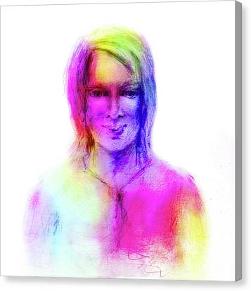 Woman Rainbow Colors Canvas Print