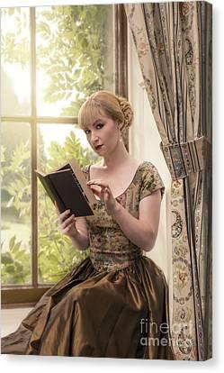 Woman Reading Canvas Print by Amanda Elwell