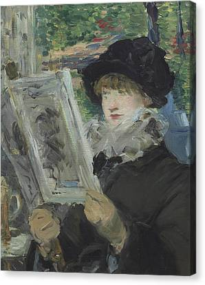 Woman Reading Canvas Print by Edouard Manet