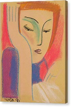 Woman Reading Canvas Print by John Keaton