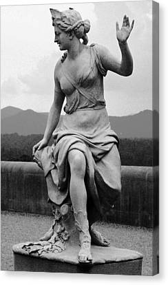 Canvas Print featuring the sculpture Woman Sculpture Nc by Eric  Schiabor
