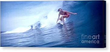 Woman Surfer Canvas Print